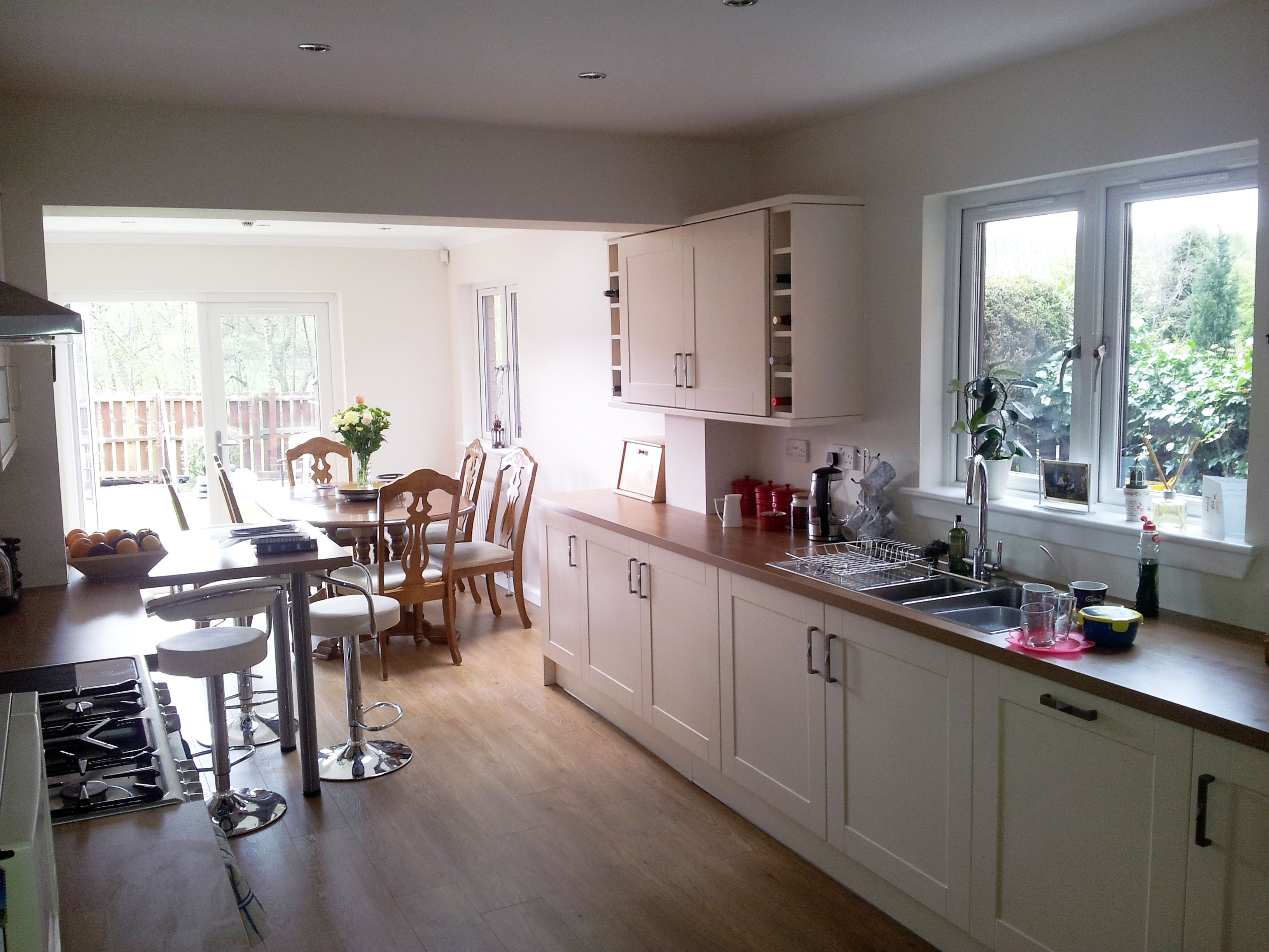 Braidpark Drive, Internal photo (View from kitchen to extension)