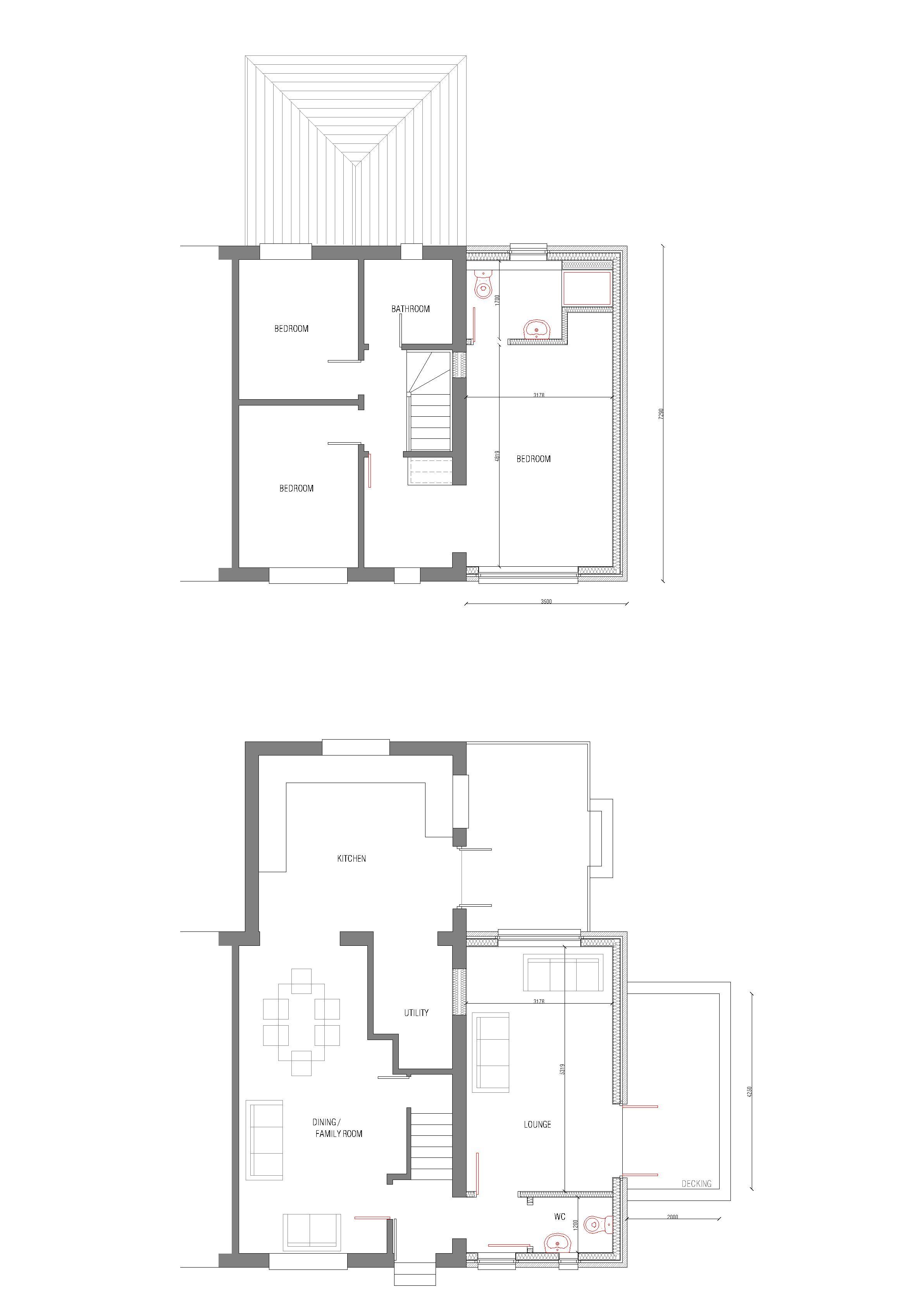 Extension floor plans view floor plans g rv garage for Extension floor plans